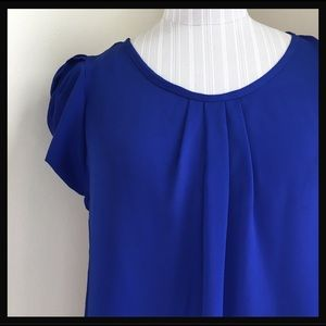 SOLD! - Cobalt/Royal Blue Blouse